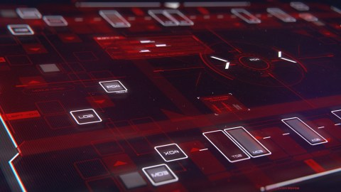 Control Screen - Sci-Fi User Interface concept