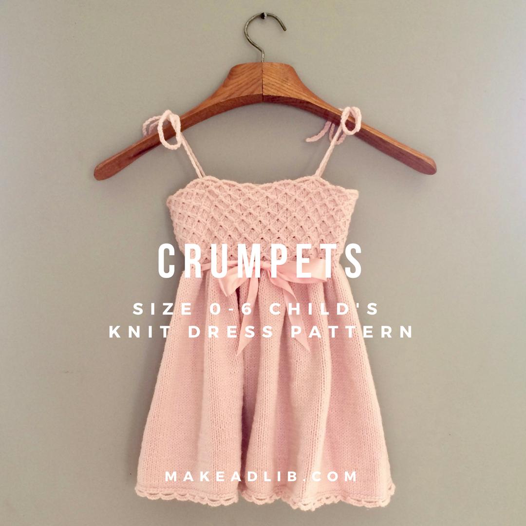 Crumpets • Child's Knit Dress Pattern