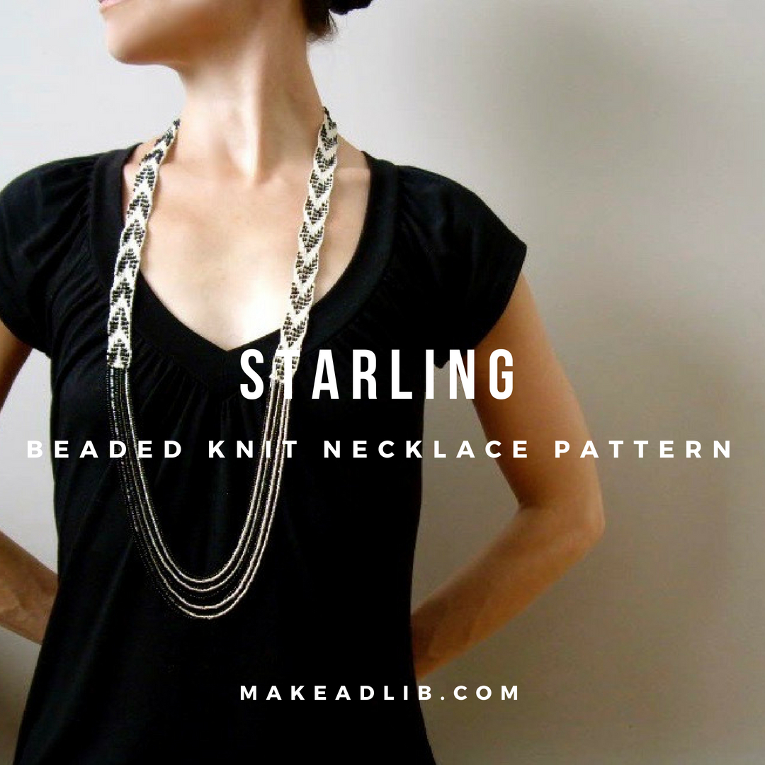 Starling Knit Beaded Necklace Pattern