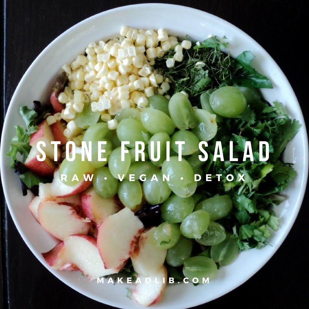 Stone Fruit Salad • Raw • Vegan • Detox