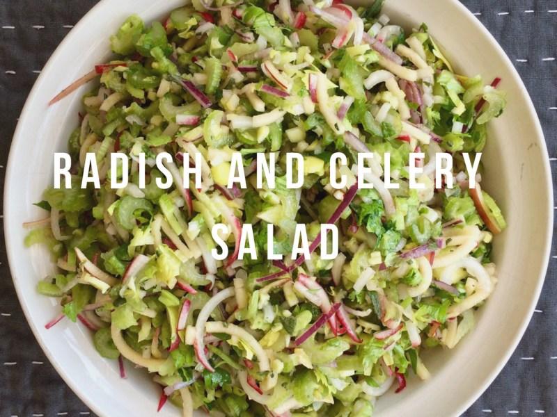 Radish and Celery Salad