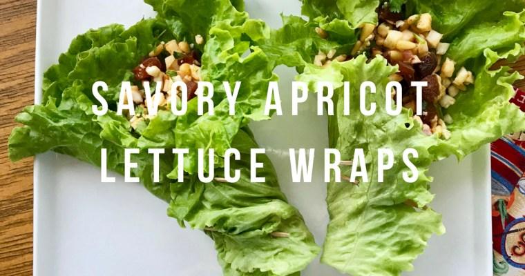 Savory Apricot Lettuce Wraps