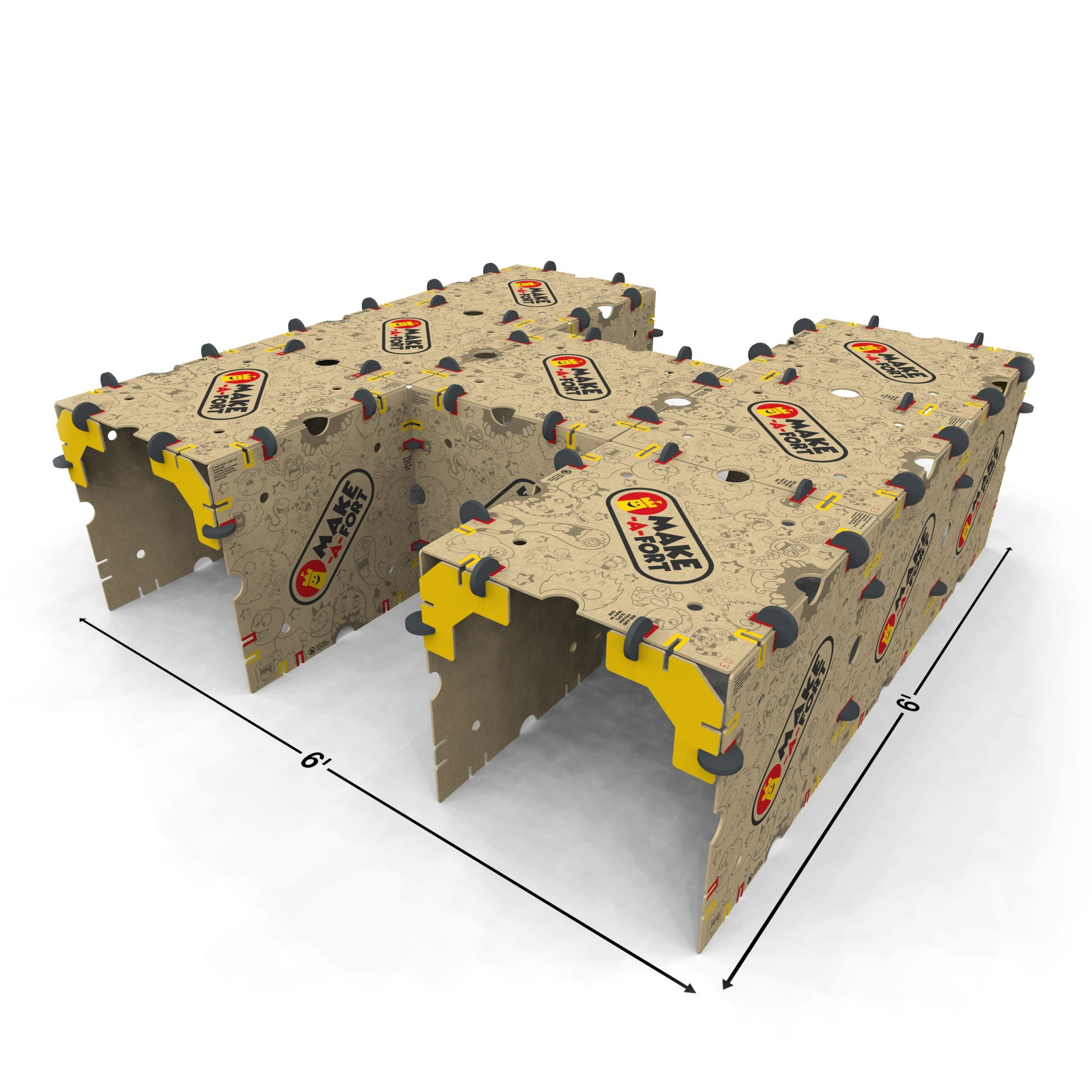 An h-tunnel built with Make-A-Fort Build Kits