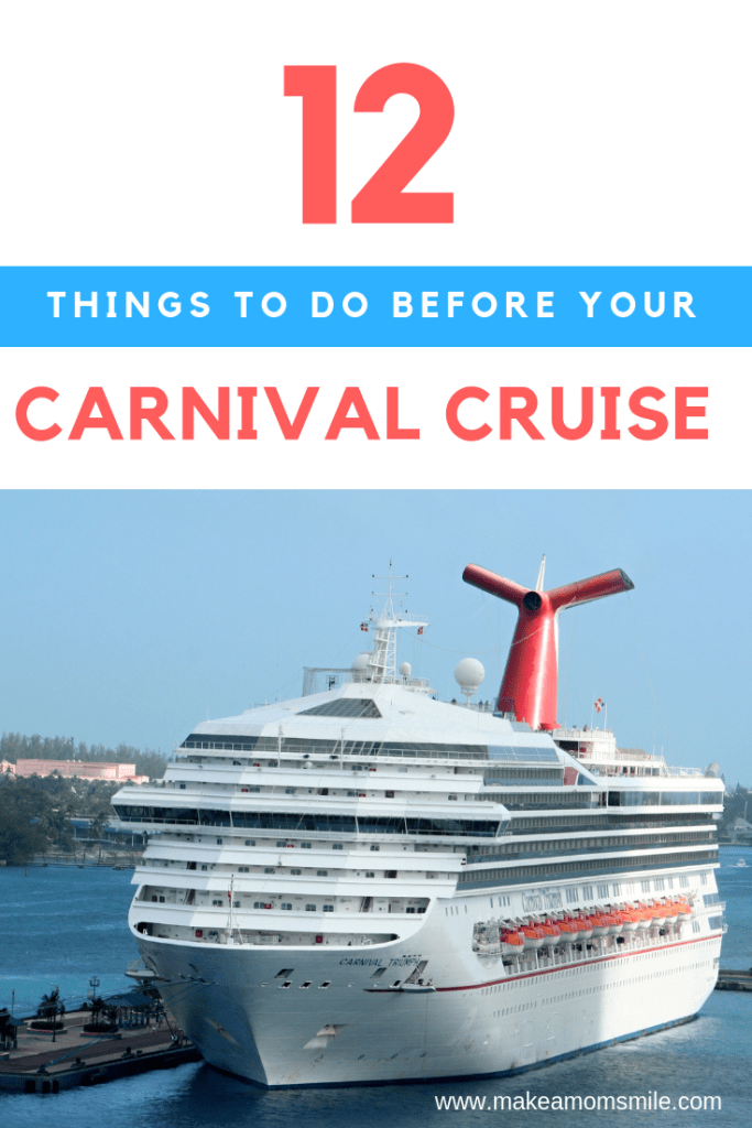 12 Things to do before your Carnival Cruise