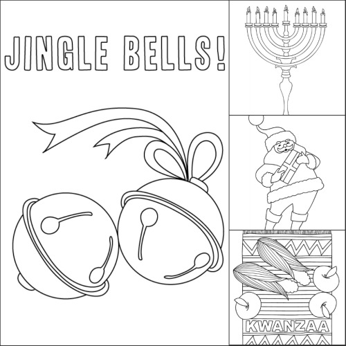free coloring pages for the december holidays make and takes