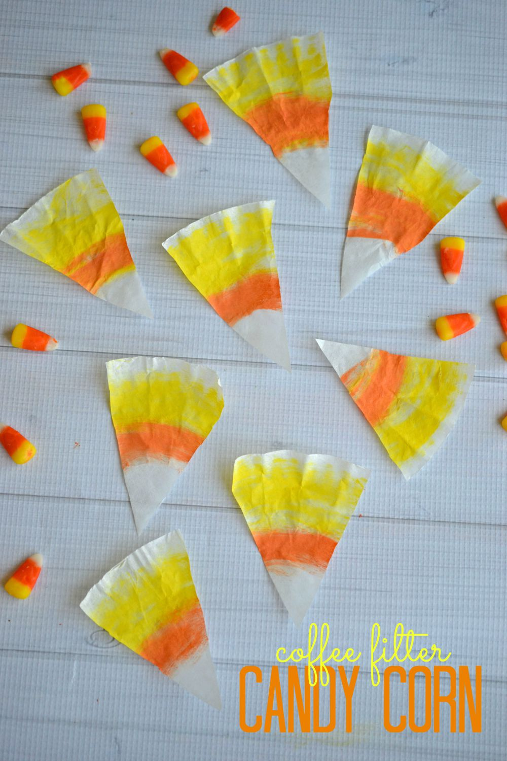 Coffee Filter Candy Corn Craft Make And Takes
