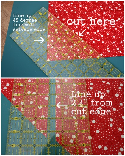 Bias Bindings and rounded quilt corners 101 : cutting bias strips for quilt binding - Adamdwight.com
