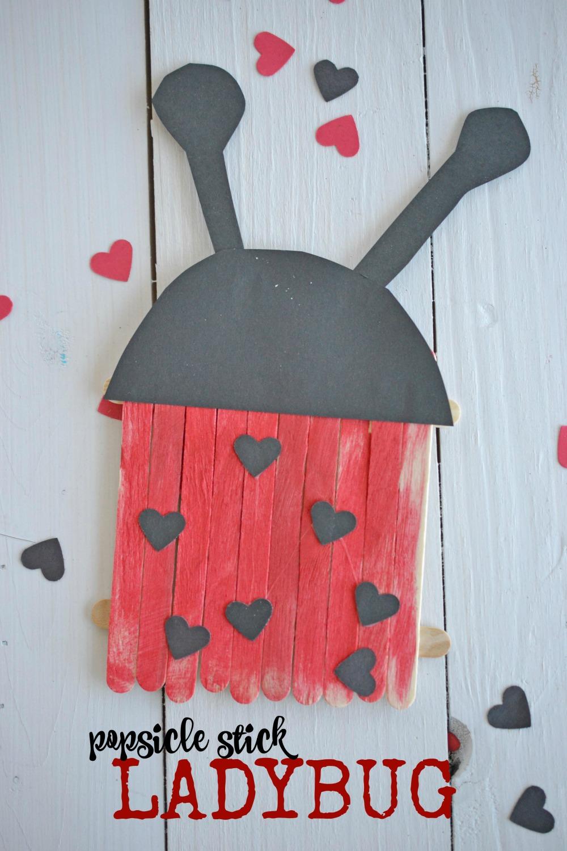 Popsicle Stick Ladybugs Kid Craft Make And Takes