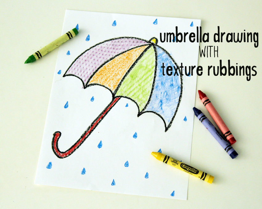 Draw A Rainy Day Textured Umbrella Make And Takes