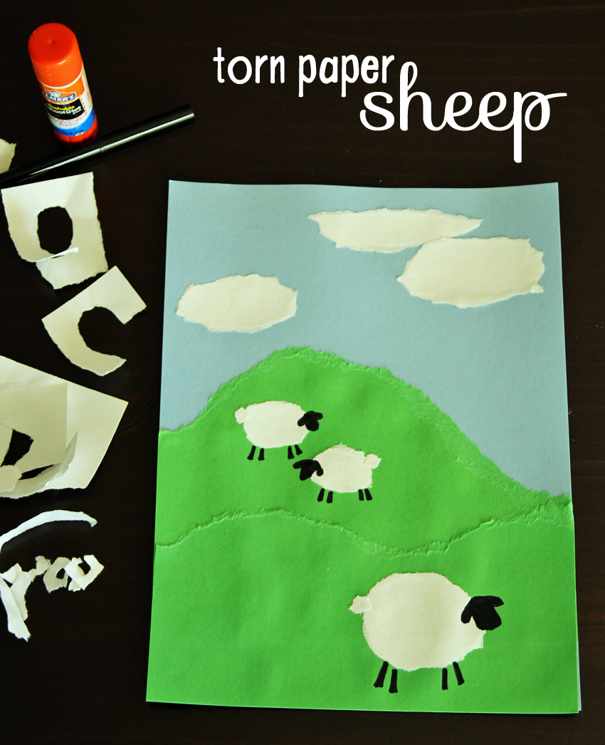 Torn Paper Sheep Art Project Make And Takes