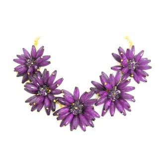 comprar online collar flores morado
