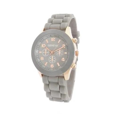 comprar reloj analógico dorado gris