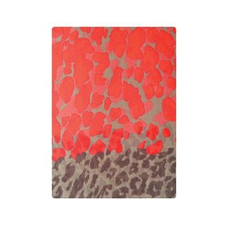 imagen de fular leopardo print naranja neon