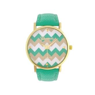 imagen de reloj zigzag verde