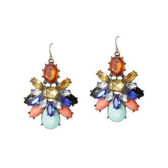 pendientes cristales multicolor