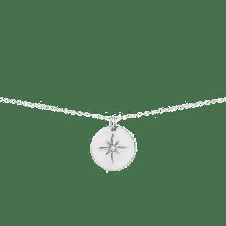 Collar con chapa de estrella polar en plata 925