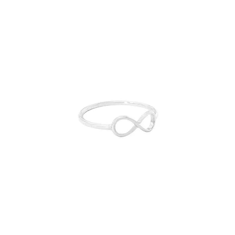 anillo infinito plata