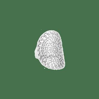 Anillo ancho con diseño de mandala en plata de ley