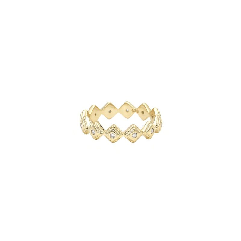 anillo corona, sortija crown en plata de ley con circonitas