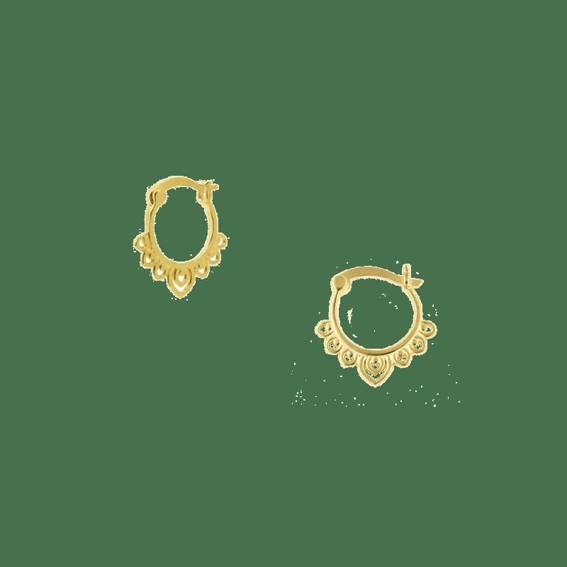 Pendientes estilo boho de plata dorada