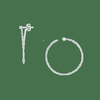 Pendientes de aro abierto en plata de ley