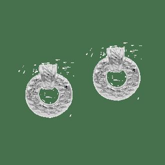 Pendientes de aro ancho para invitada en plata