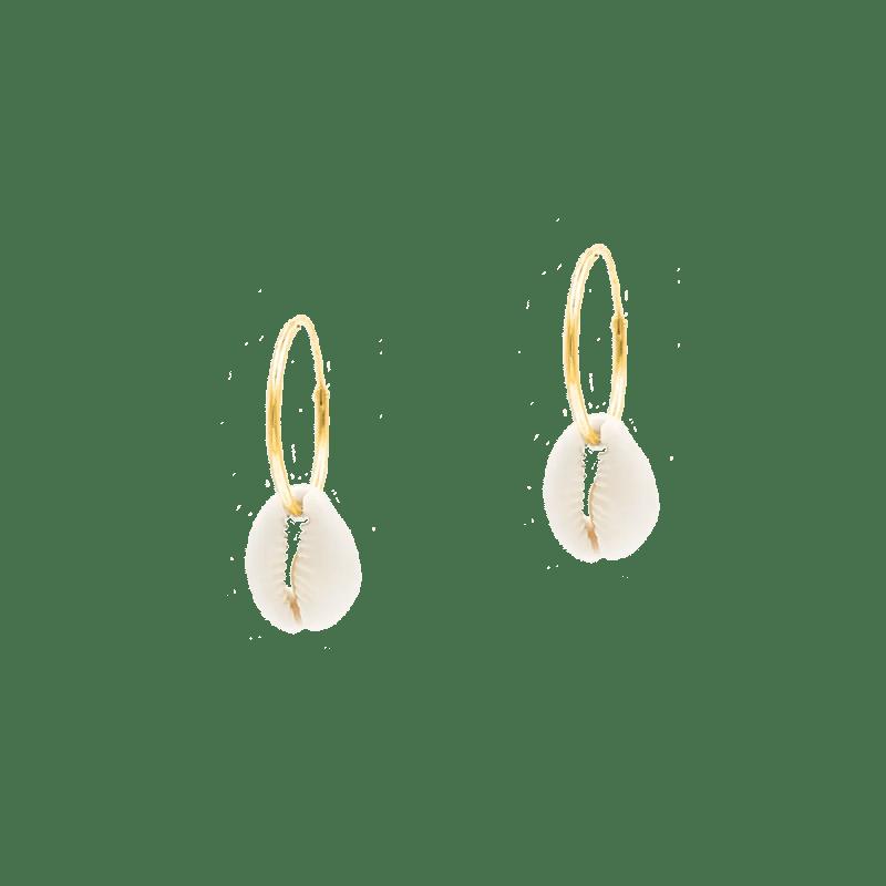 Aros de concha en plata bañada en oro