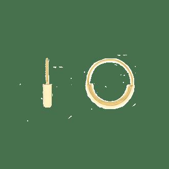 Pendientes aro de diferente grosor en plata bañada en oro 18kt