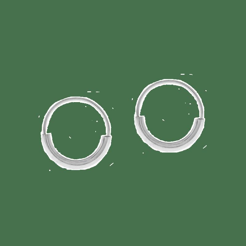 Pendientes de aro anchos en plata de ley de 28mm
