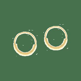 Pendientes de aro anchos en plata vermeil
