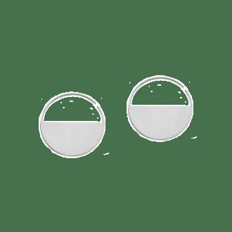 Pendientes de aro con diseño minimalista en plata de ley