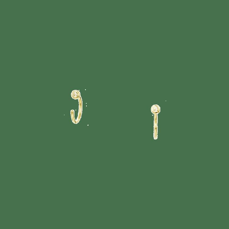 Pendientes de aritos pequeños de circonita sin cierre