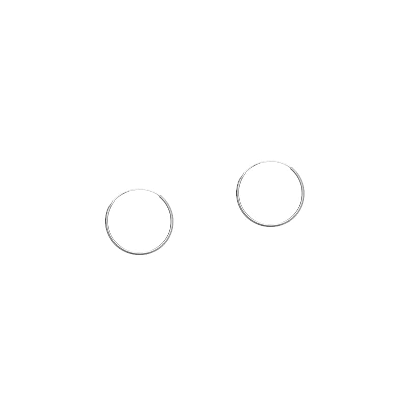 Pendientes de aro en plata de 14mm