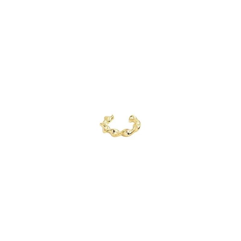Pendiente de aro trenzado para el cartílago en baño de oro