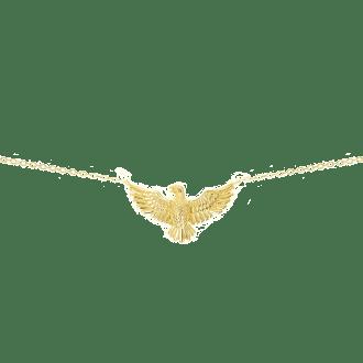 Collar con colgante en forma de águila con alas abiertas