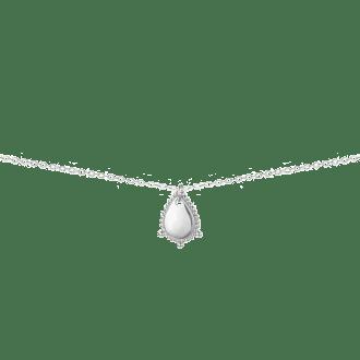 Colgante de plata en forma de gota de inspiración boho