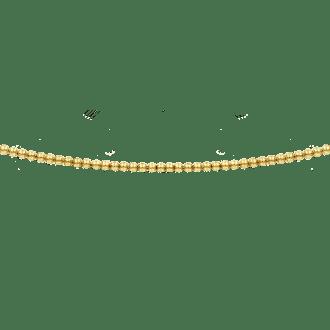 Collar estilo gargantilla con bolitas en todo el perímetro en plata oro