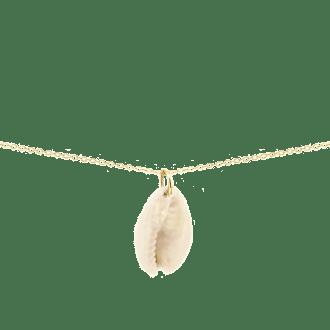 Collar con colgante de concha natural con cadena larga de 55cm
