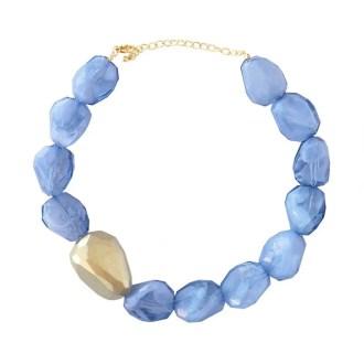 collar piedras azul