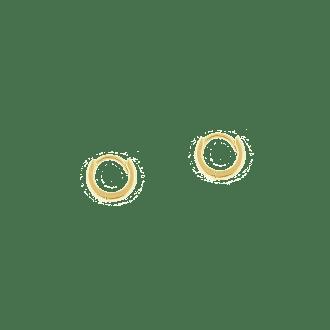 Pendientes de aro pequeño 10mm con cierre oculto y articulados