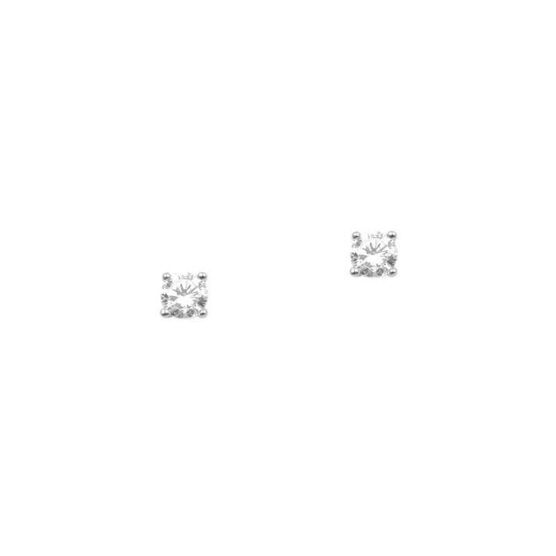 pendientes de plata de ley con circonita engarzada