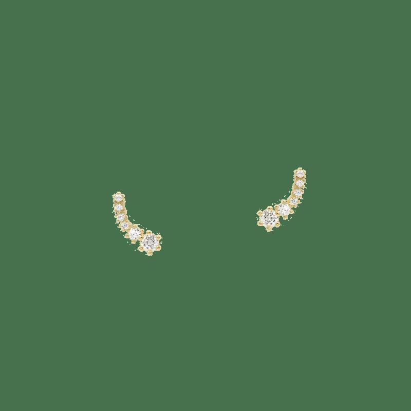 Pendientes trepadores con circonitas en tamaño decreciente