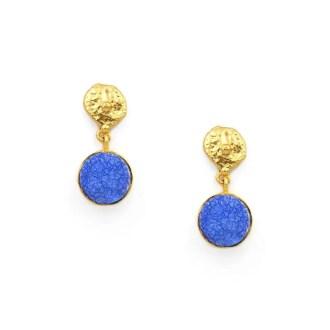 Pendientes piedras azul klein