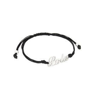 pulsera personalizada plata cordón