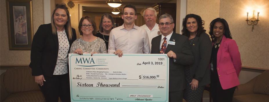 Makefield Women's Association donated $16,000 to Bucks County beneficiaries