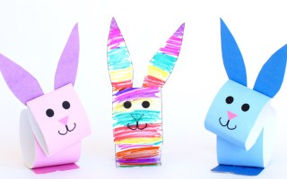 How to make Paper Bunny Puppets for Easter