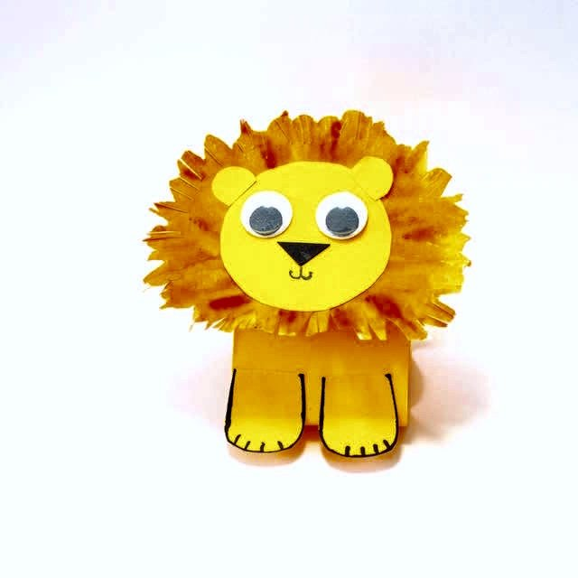 How to make this simple paper Lion