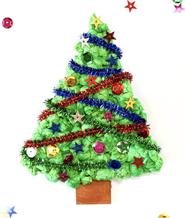 Christmas Tree Made By Paper: Tissue Paper Christmas Tree