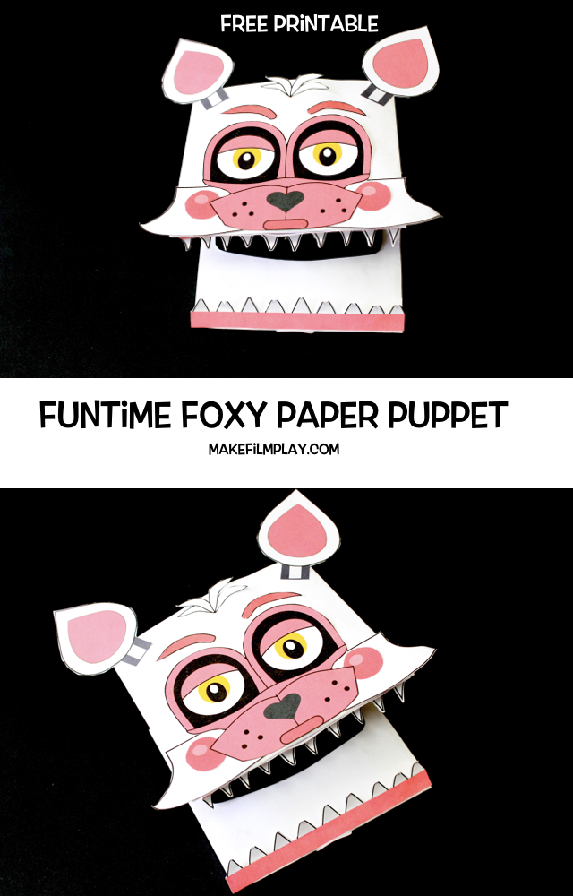 Funtime Foxy paper Puppet