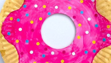How to Make a Paper Plate Doughnut